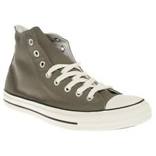 New Mens Converse Grey All Star Hi Canvas Trainers Lace Up