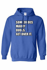 Unisex Pullover Hoodie Some Dudes Marry Dudes Get Over It Rainbow Flag Gay Pride