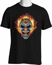 I Hate Clowns T Shirt Flames Circus Scary Clown Evil Face Small to 6XL Big Tall