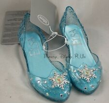 Disney Store Frozen Elsa Costume Dress Light-Up Shoes Heels Sparkle 9/10-2/3