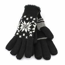 Isotoner Knit Winter Gloves for Women - One Size - Fair Isle, Snowflake