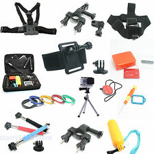 Chest Head Tripod Floaty Roll Cage Mount Accessories For GoPro Hero 4 3+ 3 2 lot
