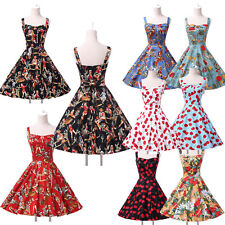 SUMMER VINTAGE 40S 50S 60S ROCKABILLY RETRO SWING PINUP PARTY PROM EVENING DRESS