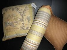 "NWT $54 Biltmore ""EQUESTRIAN"" Bedding Decorative Pillows"