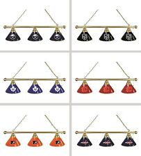 Choose Your NHL Team Brass Finish 3 Shade Pool Billiard Light by HBS