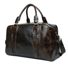 Leather Travel Bag Holdall Large Weekend Overnight Hand Luggage Bag for Holiday