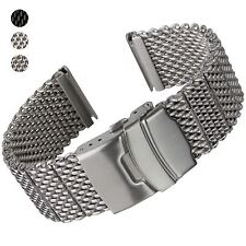 High Quality Thick Stainless Steel Milanese Mesh Watch Strap 20 22mm SS IPB PVD