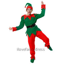 LADIES ELF COSTUME ADULT CHRISTMAS FANCY DRESS SANTA'S HELPER XMAS SUIT UK 10/22