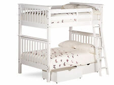 4FT OVER 4FT AMANI MALVERN BUNK BED IN WHITE OPTIONAL MATTRESSES AND DRAWERS