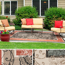 Meticulously Woven Janelle Contemporary Floral Indoor/Outdoor Area Rug (2'3 x 4'