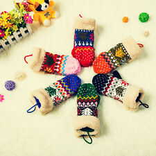 Fashion Women's Girls Knit Twist Mittens Gloves Warm Winter Glove Christmas Gift