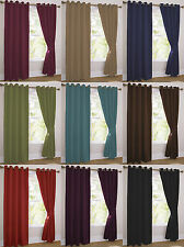 Blockout Thermal Lined Eyelet Ring Top Ready Made Curtains. In 10 Colourways