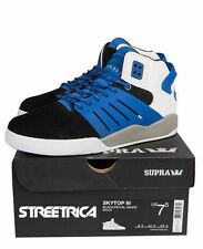 Supra Skytop III (Black/Royal-White) SUS07076 New Mid Top Sneakers Shoes Mens