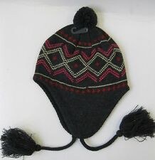 Ladies Peruvian Winter Bobble Hat, Tassle Detail. One size