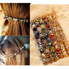 Womens Korean Fashion Crystal Rhinestone Barrette Hairpin Hair Clip Accessories