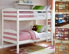 Kids Wood Bunk Beds Twin Bed Bedroom Furniture Bunkbeds Bunkbed Twin over Twin