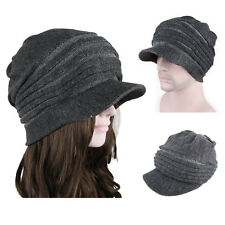 3 Colors Brim BEANIE Mens Womens Cap Hats Knit Crochet Rasta Winter kniting hat