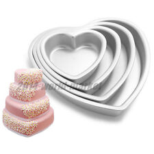 7 sizes Aluminum Cake Muffin Baking Pan Heart Mold Heart Mould Bakeware Tools #T