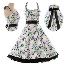 XMAS DISCOUNT Mother Of The Bride Vintage 50s Floral Party Prom Cocktail Dress