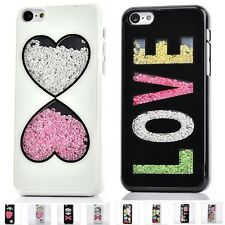"""Deluxe Bling Love Heart Diamond Crystal Hard Case Cover for iPhone 6 4.7"""" Plus"""
