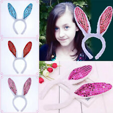 Cute Bunny Rabbit Ear Cool Headband Plush Hair Band Girl LED Glow Party Supply