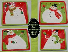 NEW CHRISTMAS CHUBBY SNOWMAN SPOON REST DESSERT PLATE 4 STYLES TO CHOOSE FROM