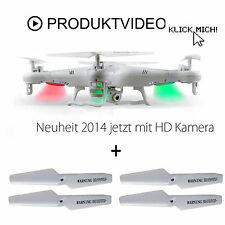 RC Quadrokopter mit HD Kamera 2,4 GHz Helikopter Gyro 4 Kanal Drohn in&outdoor