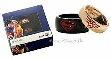 New DC Comics Superman & Wonder Woman His and Hers Gift Ring Set Size SM MD LG