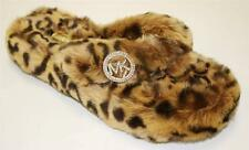 Women's Shoes Michael Kors JET SET MK THONG Faux Fur Slippers Cheetah Leopard