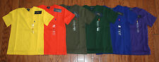NWT Ralph Lauren Polo Solid Classic Pony Tee Fall Colors Boys Sizes 4-7