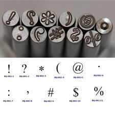 KENT 5mm Punctuation Marks Precision Design Metal Punch Stamps Sold Individually