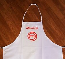Masterchef Apron Black or White Embroidery with your name