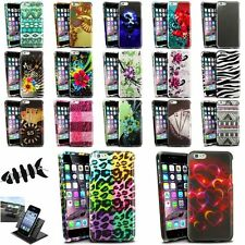 """Colorful Rubberized Design Case+Holder Mount+Headset Wrap For iPhone 6 Plus 5.5"""""""