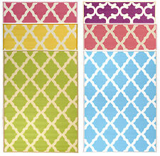 Contemporary Moroccan Trellis Design Teen Kids Non-Slip Area Rugs and Runners