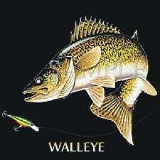 Walleye Fish T-Shirt Fishing Fisherman Sizes Youth - 6XL Redneck Freshwater