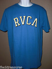 New Mens RVCA Surf Skate T-Shirt Royal Blue Choose Size Super NICE!!!