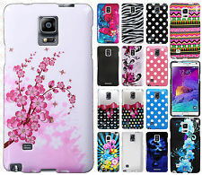 Samsung Galaxy Note 4 Rubberized HARD Protector Case Phone Cover + Screen Guard
