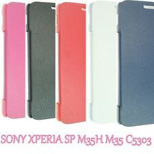 FOR SONY XPERIA SP M35H LEATHER HARD WALLET FLIP POUCH COVER CASE C5303 EXPERIA
