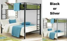 Full Over Full Size Metal Bunk Bed Beds Heavy Duty Sturdy Kids Bedroom Furniture