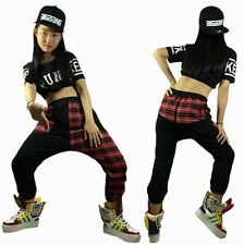 New Harem Hip Hop Dance Pants Sweatpants Harem Plaid Patchwork Sports Trousers