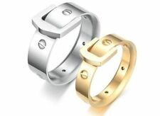 Fashion Titanium Steel Promise Ring love Couple Wedding Bands gift JZ52