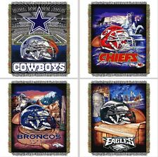 "Choose Your NFL Team 48 x 60"" Home Field Advantage Woven Tapestry Throw Blanket"