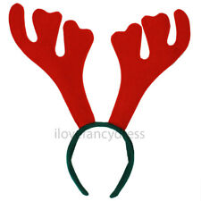REINDEER ANTLERS ON HEADBAND CHRISTMAS FANCY DRESS OFFICE XMAS PARTY STAG DO