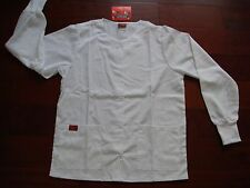 New Warm Up Jacket Long Sleeve Scrub Top Medical EMT Restaurant wear Color White