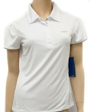 Reebok Womens Club UV Text PO White Polo Shirt