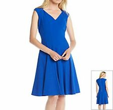 CALVIN KLEIN® 10, 12 Celestial Blue Panel Fit 'N Flare Swing Dress *NWT $128