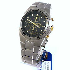 Seiko Mens Chronograph Analog Sport Watch SND451P1 SND459P1