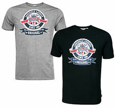 Lonsdale ORIGINAL ROUND TARGET T-Shirt Vintage Design Union Jack Black or Grey