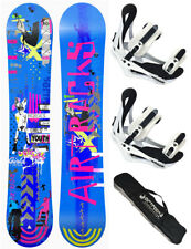 AIRTRACKS Snowboard Set Bluebird Rocker+Softbinding Savage W+Bag/138 144 151 156