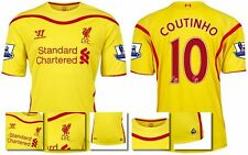*14 / 15 - WARRIOR ; LIVERPOOL AWAY SHIRT SS + PATCHES / COUTINHO 10 = SIZE*